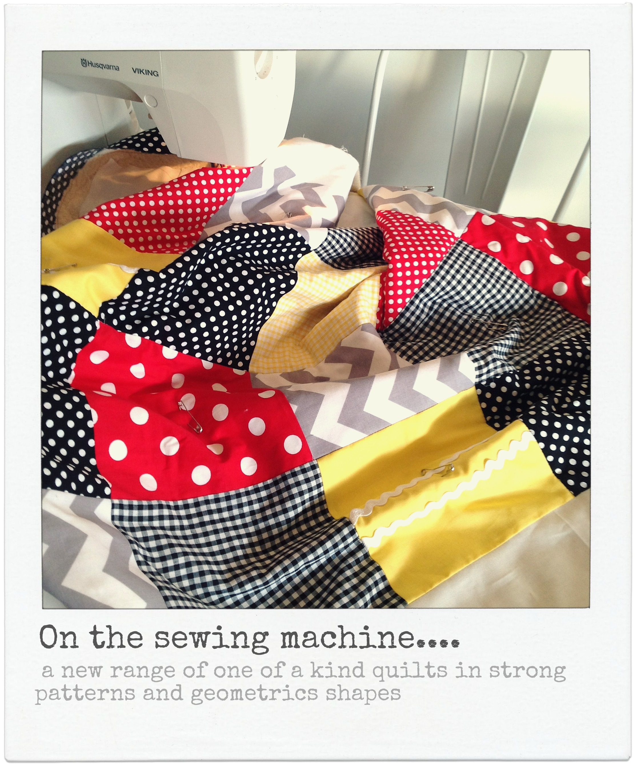 On the sewing machine....