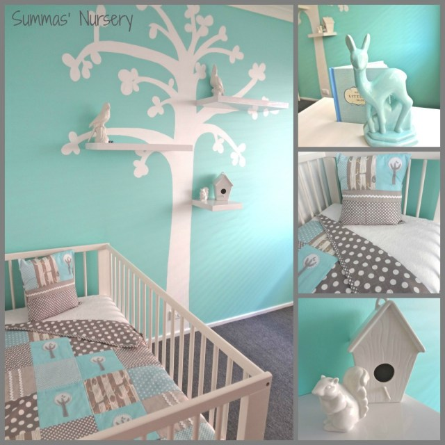 summa nursery featuring alphabet monkey quilt
