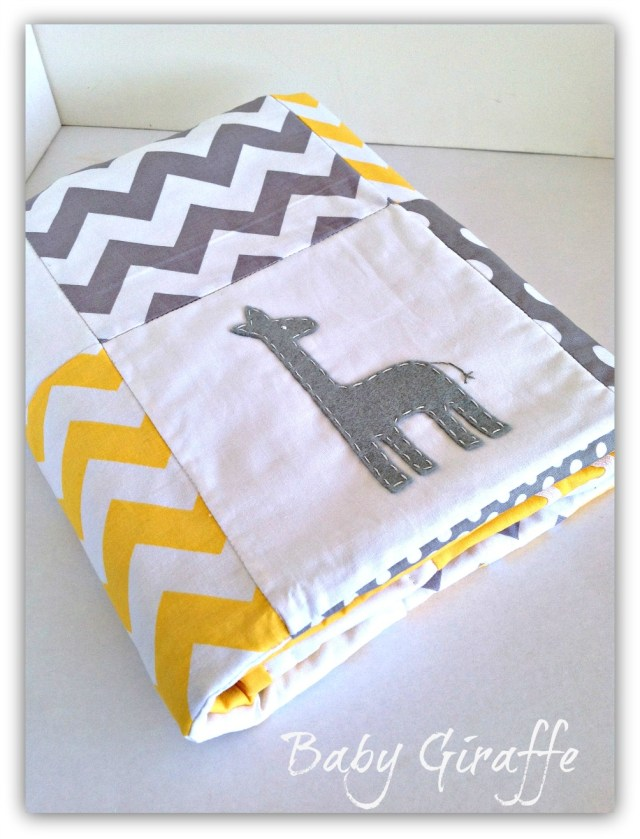 giraffe quilt by alphabet monkey