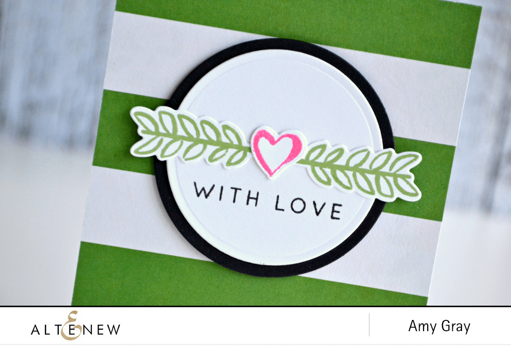 With love leaves close up signature