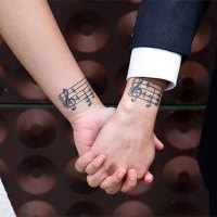 Matching Couple Tattoos For Lovers That Will Grow Old Together