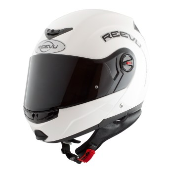 White gloss flip up fullface helmet
