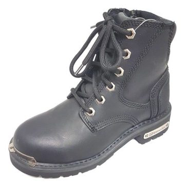 Side zipper Leather Boot
