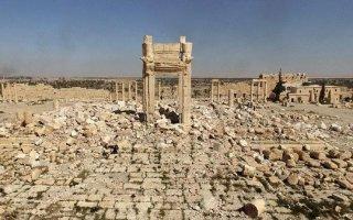 """""""داعش"""" يدمر اثارا جديدة في مدينة تدمر السورية"""