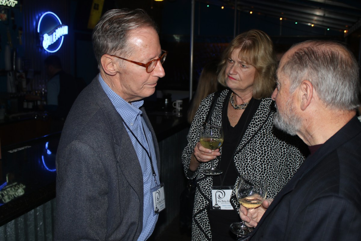 Todd Cohen, Nancy Stancill and Wayne Hurder at the dinner party. Photo by Alex Kormann