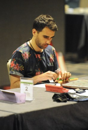 Mark Abadi at the Scrabble championship. Photo by Patty Hocker/NASPA