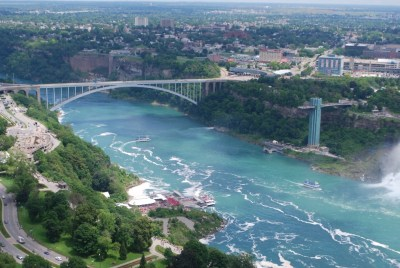 View of the Niagara River from the Skylon Tower
