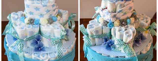 luiertaart diaper cake star front back