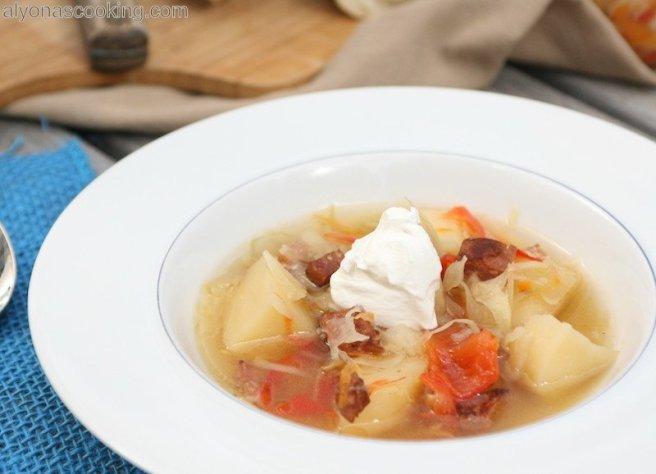cabbage borscht-salami-red bell pepper-soup-light-sourceam-potatoes-cabbage salad-cabbge blend soup-borscht