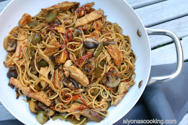 east strip fry asian noodles