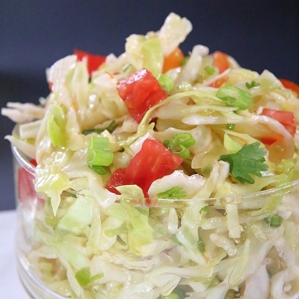 oil & vinegar cabbage salad