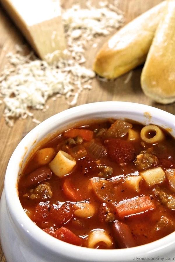 Pasta E Fagioli Soup Recipe Olive Garden Copycat Alyona S Cooking