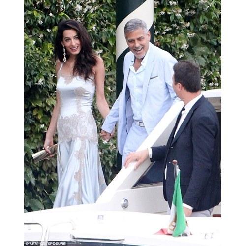 Medium Crop Of Amal Clooney Wedding Dress