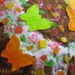 Торт Полянка (шоколадная колбаска)