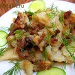 Картошка, жареная с бараниной