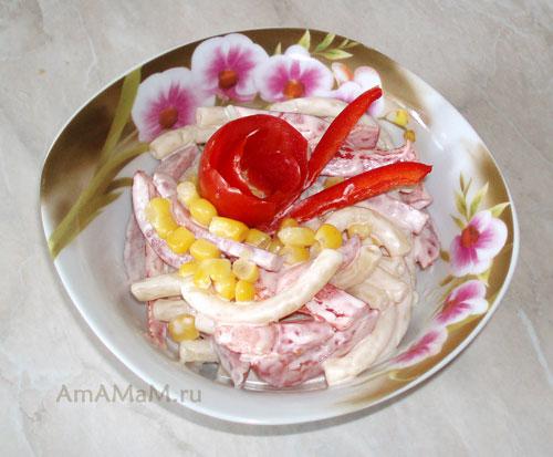 Рецепт итальянского салата с ветчиной
