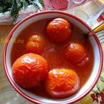 Помидоры в томатном соке (в собственном соку)