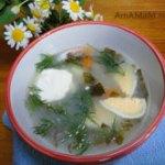 Суп со щавелем и рисом
