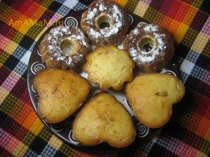 Кексы из творога в формочках - рецепт с фото
