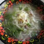 Суп-лапша из утиных шеек
