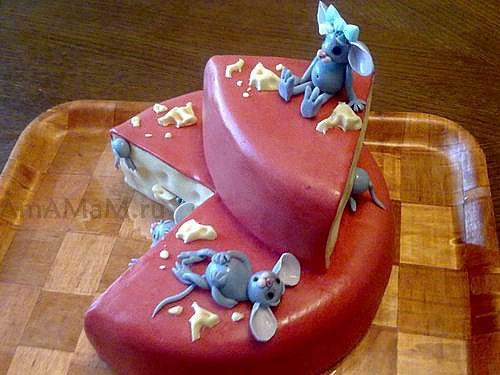 Детский торт Сыр с мышами