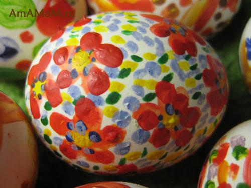 Акриловые краски для росписи пасхальных яиц - фото