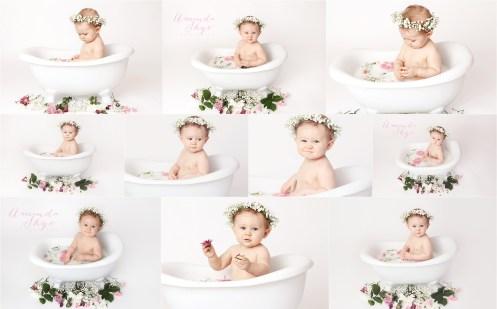 children milk bath, milkbath,baby in milk bath, orange county milk bath, amanda skye photography