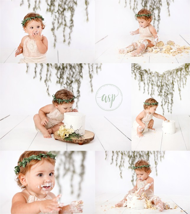 cake smash orange county, girl cake smash, minimal cake smash, amanda skye photography