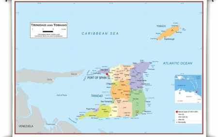 Mapa de Trinidad e Tobago