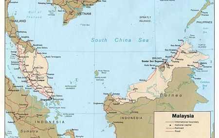 Mapa da Malásia