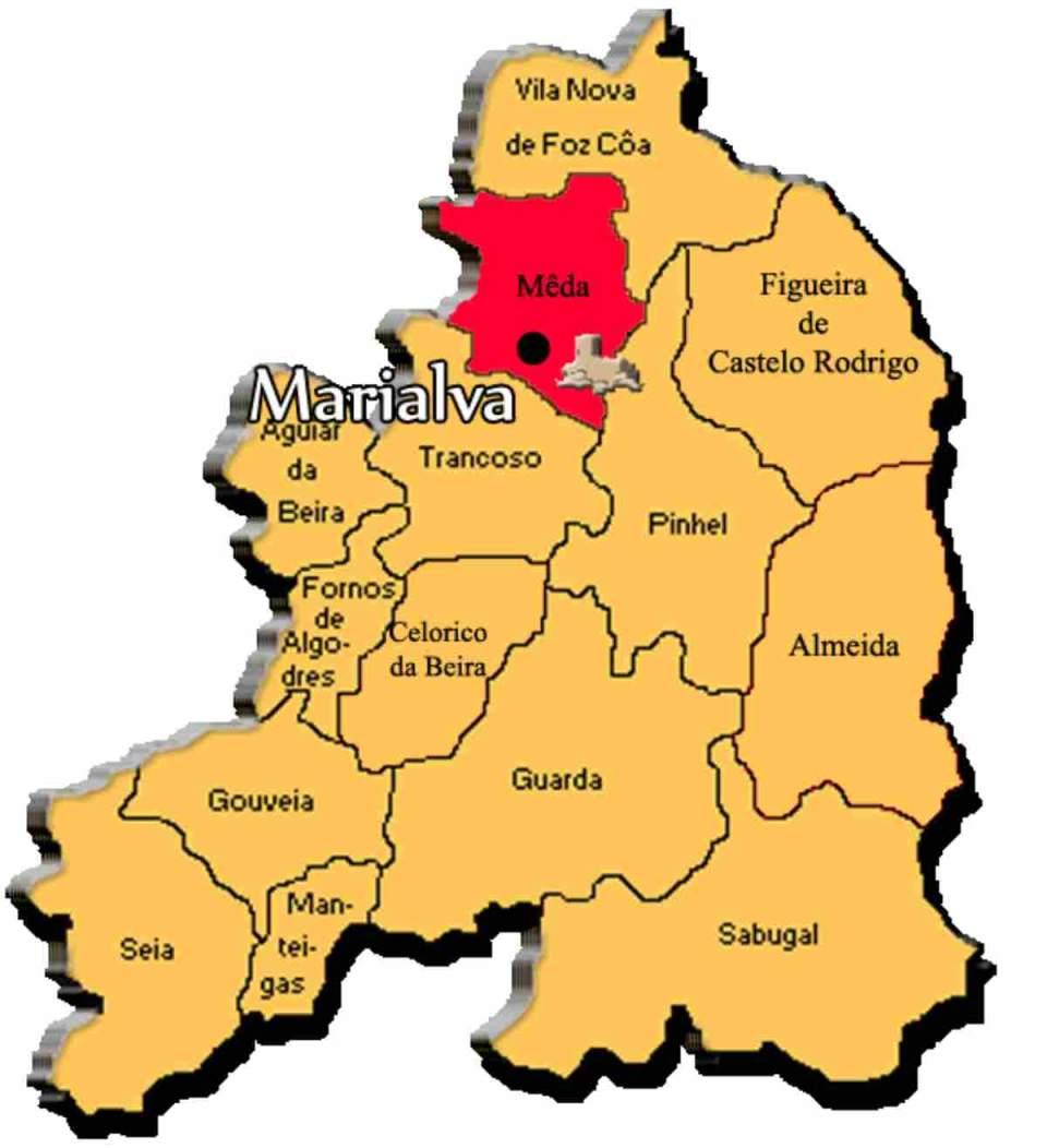 Mapa da região de Marialva