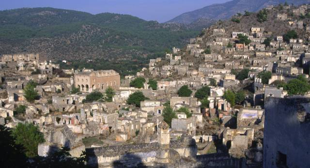 Kayakoy ghost town in southwestern Turkey