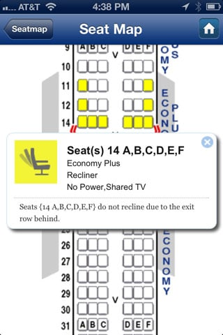 SeatGuru iPhone app