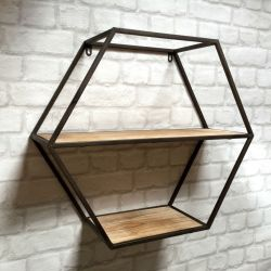 Small Crop Of Metal Wall Shelf