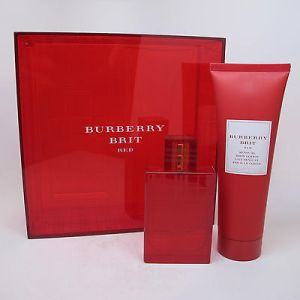 burberry brit red set