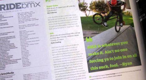 Corey in RideBMX Magazine!