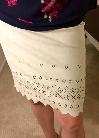 Stitch Fix Karen Kane faux suede skirt