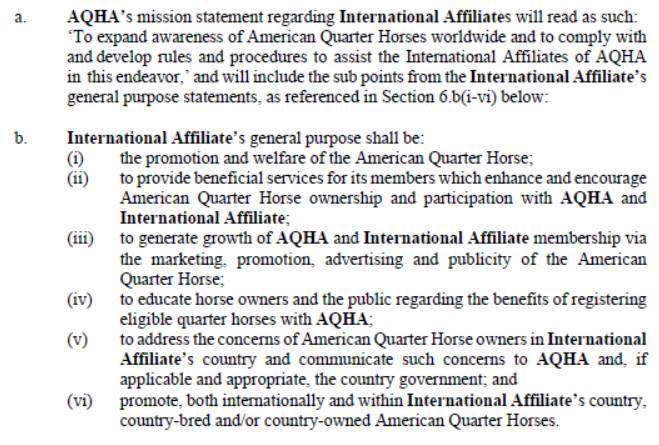 Versión Original redactada por Sierra Kane, M.A. Directora de Actividades Internacionales de la American Quarter Horse Association AQHA