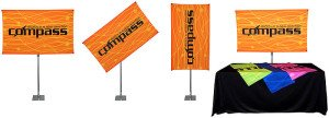 non-retractable banner stand for trade shows