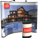 10 ft traditional trade show pop up display with mural graphic panels