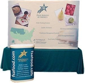 pop up display, table top burst popup display with graphic wrapped case