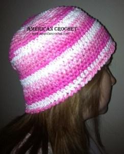Pink n White Beanie
