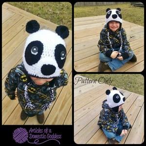 Panda Monium Earflap Hat