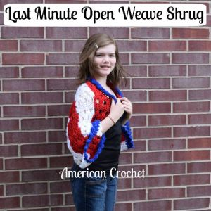 Last Minute Open Weave Shrug