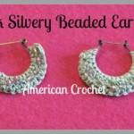 Pink Silvery Beaded Earrings