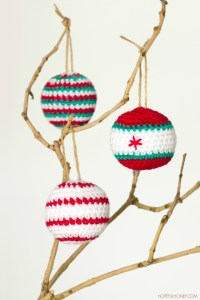 Christmas Baubles Crochet Pattern 1
