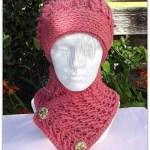 Crossed Ripple Slouchy Hat n Neckwarmer
