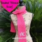 Fuchia Basket Weave Scarf