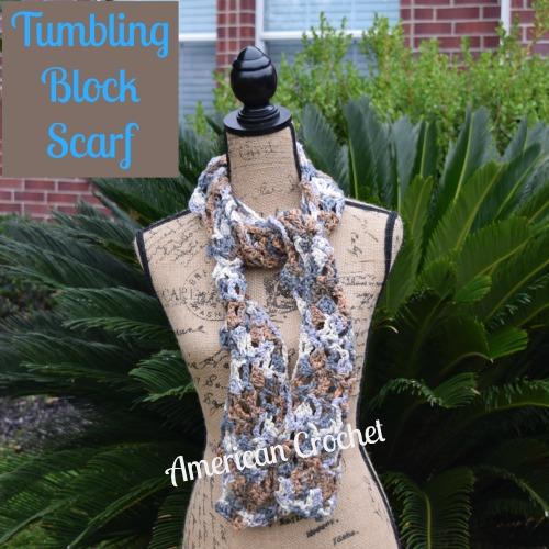Tumbling Block Scarf