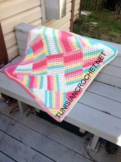 Tutti Frutti Baby Blanket ~ Free Crochet Pattern